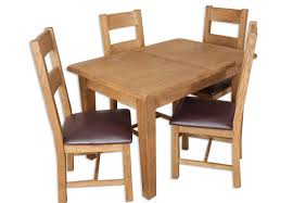 country chunky oak 1 2 extending dining table