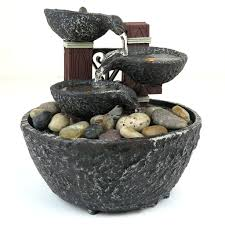 rock home decor zen fountain indoor water rock fountain w led lights zen indoor