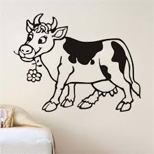 best buy buy cute cartoon cow nursery room wall stickers hollow cute cartoon cow nursery room wall stickers hollow out animal children s room home decor
