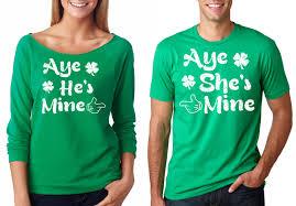 st patrick u0027s day green irish t shirts couple matching tee