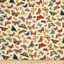 spring in paris butterfly cream discount designer fabric