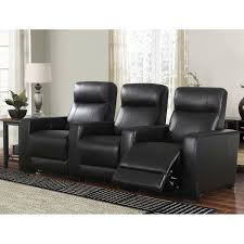 grand 3 piece top grain leather power media recliners living room set