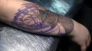 clock tattoo on hand astronomical clock tattoo time lapse part 1 youtube