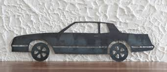 1987 monte carlo ss steel cut out 24x7 handmade metal