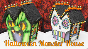 halloween monster mansion day of the dead gingerbread cookie
