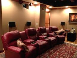 terrific leather glider recliner costco home theater seating