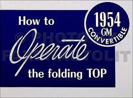 1954 buick owners manual reprint