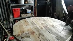 Diy Wood Plank Table Top by Making A Palletwood Table Top Youtube