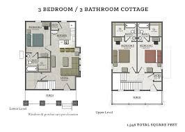 3 bedroom 3 bath floor plans 3 bedroom cottage the cottages of tempe