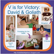 bible fun for kids preschool alphabet v is for victory for david