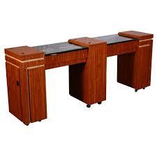 Revit Reception Desk Carina C Double Manicure Table Half Marble Top Ft505c