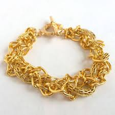 braided bracelet with chain images Braided gold chains bracelet helou designs JPG