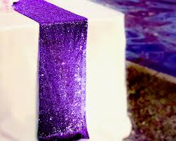 eggplant colored table linens table runner 12 x 108 sequin tablecloth dark purple sequin table