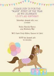 pony party invitations cloveranddot com