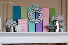 Easter Mantel Decorating Ideas by Spring Decor Ideas Landeelu Com