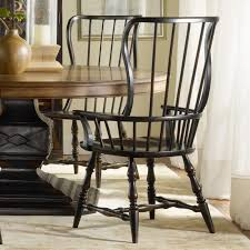 hooker furniture sanctuary spindle back dining arm chair ebony