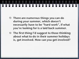 tips for students things to do during your summer holidays