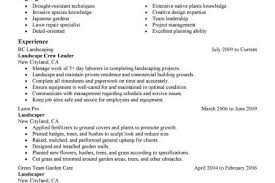 Landscape Resume Samples by Landscape Resume Examples Automotive Reentrycorps