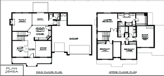 Two Floor House Plans by Two Story Simple House Plans