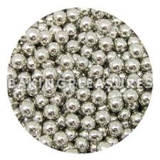 edible pearl pearl cachous silver 2mm