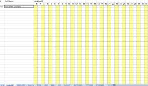 Attendance Spreadsheet Attendance Sheet For Employees Excel 2016 Printable Calendar