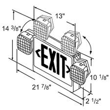 exit emergency light combo plastic led exit sign emergency light combo battery backup