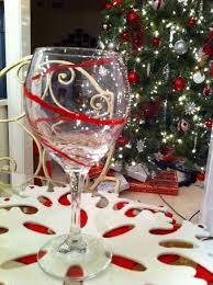 pier one red striped wine glass art craft and code