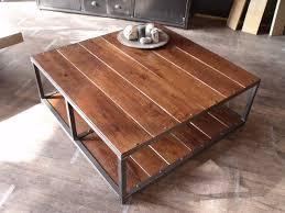 table basse chambre table basse industrielle bois métal factory le bois chez vous