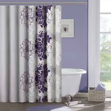 White And Purple Curtains Bathroom Most Beautiful Shower Curtains With Purple Wall Youth