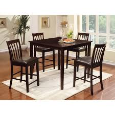 hillsdale tiburon 5 piece counter height dining set espresso