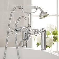 milano freestanding traditional crosshead bath shower mixer kit
