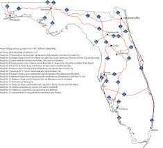 florida highway map southeast roads aaroads evolution of florida state roads