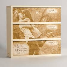 box personalized photo anniversary wine box personalized wedding gift