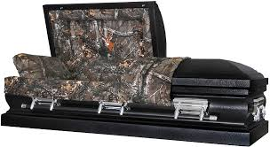 camo casket with in them