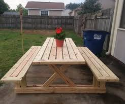 Free Picnic Table Plans 8 Foot by Marvelous Large Picnic Table Plans 22 With Additional Amazing
