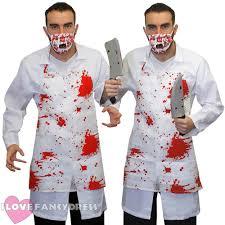 killer doctor fancy dress halloween costume with bloody