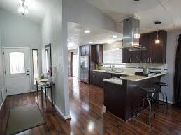 modern recessed lights and dark inexpensive laminate flooring