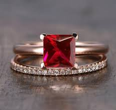 ruby rings sale images Limited time sale 1 25 carat red ruby princess cut ruby and jpg