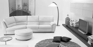 modern black and white leather sectional sofa living room design comfy white leather sectional for small spaces