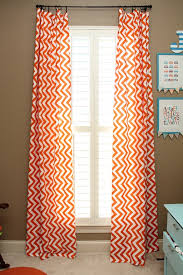 Chevron Design Curtains Alluring Orange Patterned Curtains And Best 20 Orange Lined