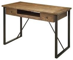 desks industrial style computer desk with keyboard drawer