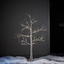3ft birch white pre lit christmas tree departments diy at b u0026q