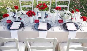 red and white table decorations for a wedding 47 red and white table settings black and white wedding table