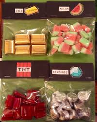 minecraft party treat bag goodies i made this pinterest