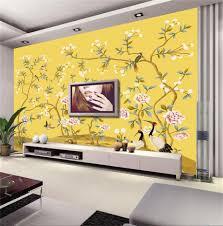 online get cheap bird wall mural aliexpress com alibaba group 3d wallpaper custom photo non woven mural hand painted flowers birds 3d wall murals wallpaper