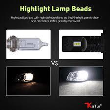 light bulb conversion to led katur 2pcs h8 h11 h16 led fog light bulb conversion kit super bright