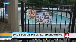 man 3 year old son die in suspected drowning at pool in novi