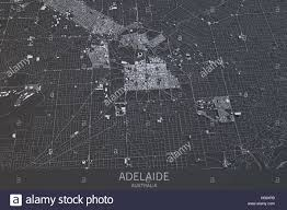 Satellite View Map Adelaide Map Satellite View City Australia 3d Rendering Stock
