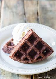 cuisine a la mode brownie belgium waffles a la mode a spicy perspective