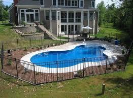 Backyard Swimming Pools by Top 25 Best Fiberglass Inground Pools Ideas On Pinterest